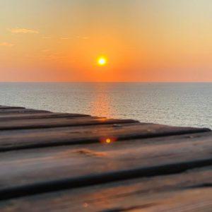 שקיעה בים - גן לאומי חוף השרון